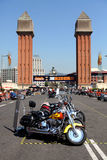 Dias de Barcelona Harley fotos de stock royalty free