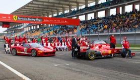 Dias de competência de Ferrari fotografia de stock royalty free