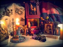 Dias de muerto. Day of the dead alter Stock Images