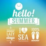 Dias de verão Foto de Stock