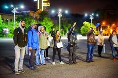 99 dias do protesto, Bucareste, Romênia Foto de Stock Royalty Free