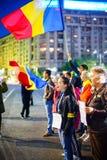 96 dias do protesto romeno, Bucareste, Romênia Imagem de Stock