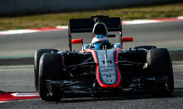 DIAS DO TESTE DO FÓRMULA 1 - FERNANDO ALONSO Fotos de Stock Royalty Free