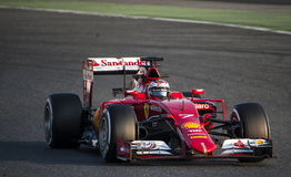 DIAS DO TESTE DO FÓRMULA 1 - KIMI RAIKKONEN Fotos de Stock Royalty Free