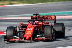 Dias 2019 do teste do Fórmula 1 - Charles Leclerc imagem de stock