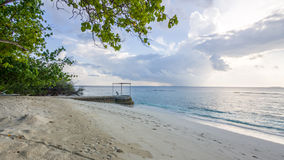 Dias felizes em Maldive Foto de Stock Royalty Free