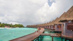 Dias felizes em Maldive Imagem de Stock