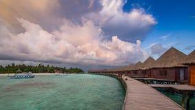 Dias felizes em Maldive Fotografia de Stock