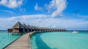 Dias felizes em Maldive Imagens de Stock Royalty Free