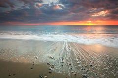 Diaskari海滩,克利特,希腊。 免版税库存照片