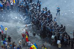 Diaspora protest in Boekarest tegen de overheid royalty-vrije stock foto's