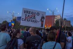 Diaspora protestieren in Bukarest gegen die Regierung lizenzfreies stockbild