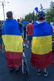 Diasporaprotest i Bucharest mot regeringen Royaltyfria Foton