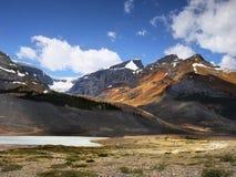 Diaspro del ghiacciaio di Colombia Icefield Athabasca Fotografia Stock Libera da Diritti