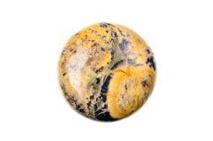 Diaspro a forma di della moneta arancio fotografia stock