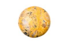 Diaspro a forma di della moneta arancio Fotografia Stock Libera da Diritti