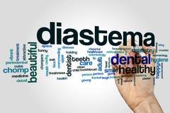 Diastema word cloud Stock Photography