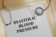 Diastolic Blood Pressure - medical concept Royalty Free Stock Photos
