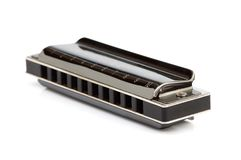 Diatonische geïsoleerde harmonika royalty-vrije stock fotografie