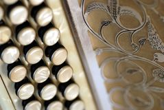 Diatonische harmonika stock afbeelding