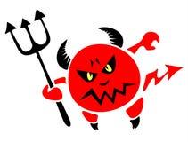 Diavolo con un tridente illustrazione di stock