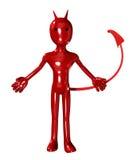 Diavolo con una coda Fotografie Stock Libere da Diritti