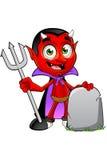Diavolo del fumetto - con la lapide illustrazione di stock