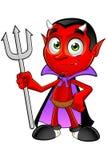 Diavolo del fumetto - forcella della tenuta royalty illustrazione gratis