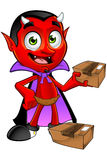 Diavolo del fumetto - pacchetto della tenuta illustrazione di stock