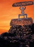 Diavolo del fuoco, Timanfaya, Lanzarote. Immagini Stock