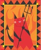 Diavolo del gatto Fotografia Stock