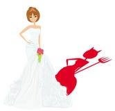 Diavolo della sposa Fotografia Stock Libera da Diritti