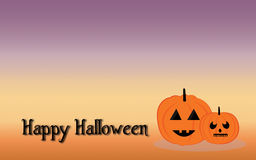 Diavolo delle zucche nella notte di Halloween Fotografia Stock