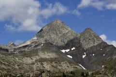Diavolo di tenda peaks. Italian mountain,diavolo di tenda peaks,san pellegrino mineral water sources stock image