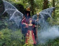 Diavolo e principi di Halloween Fotografia Stock Libera da Diritti