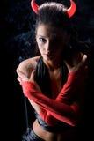 Diavolo nelle nubi di fumo dall'incenso Fotografia Stock