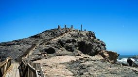 Diaz punkt przy oceanu brzeg, Luderitz Namibia Zdjęcia Royalty Free