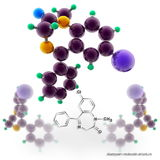 Diazepam molecule structure Royalty Free Stock Image