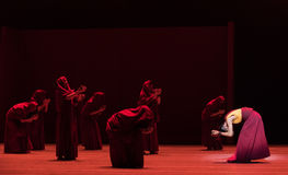Dibattendo ` di Cangyangjiacuo di sacre scritture- di dramma buddista di ballo `` Fotografia Stock