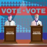 Dibattiti di elezione Fotografie Stock