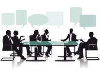 Dibattito e discussione in ufficio illustrazione vettoriale