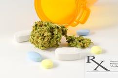 Dibattito medico di voto di legislazione di uso della marijuana Fotografia Stock