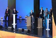 Dibattito presidenziale ucraino a Kiev immagine stock libera da diritti