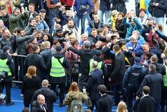 Dibattito presidenziale ucraino a Kiev fotografia stock libera da diritti