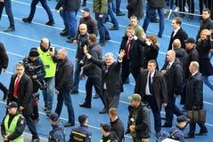 Dibattito presidenziale ucraino a Kiev fotografie stock