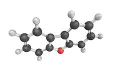 Dibenzofuran, a heterocyclic organic compound obtained from coal Royalty Free Stock Images
