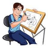 Dibujante stock de ilustración