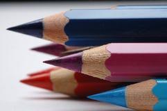 Dibujaron a lápiz diversos colores fotografía de archivo libre de regalías