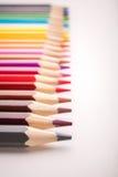 Dibujaron a lápiz todos los colores foto de archivo libre de regalías