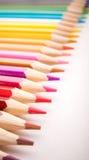 Dibujaron a lápiz todos los colores Foto de archivo